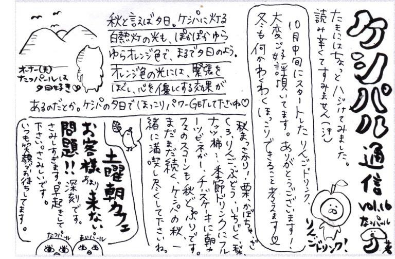 カフェケシパール2019_ケシパル通信vol.16表
